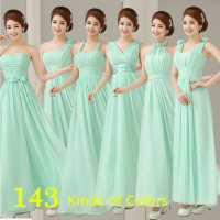2017 Hot Sweet And Elegant Style A Line Of Six Simple Elegant Flower Long Mint Green