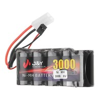 J Y 6V 3000mAh NiMH Rechargeable Lipo Battery Pack FUTABA Plug For Servo RC Transmitter