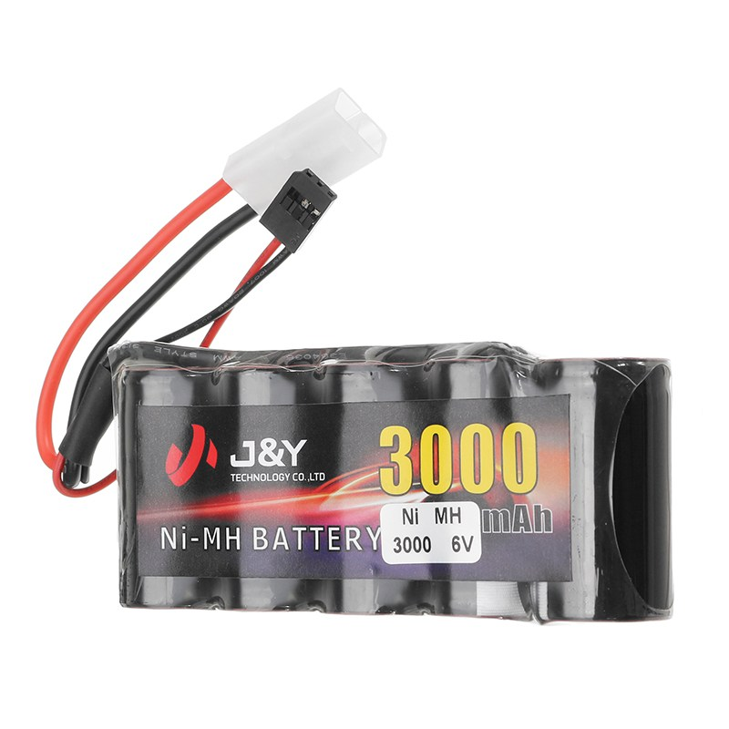 J&Y 6V 3000mAh NiMH Rechargeable Lipo Battery Pack FUTABA Plug for Servo RC Transmitter injora 1pcs 15cm 30cm rc servo extension y wire cable for jr futaba rc model