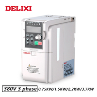 DELIXI 380V 0.75KW/1.5KW/2.2KW/3.7KW 3 phase input inverter drives for motor Speed Control 50HZ 60HZ DC frequency converter VFD