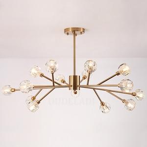 Image 2 - Nordic fashion transparent crystal Pendant Lamps modern living room ceiling lamps bedroom restaurant G9 LED Iron pendant lights