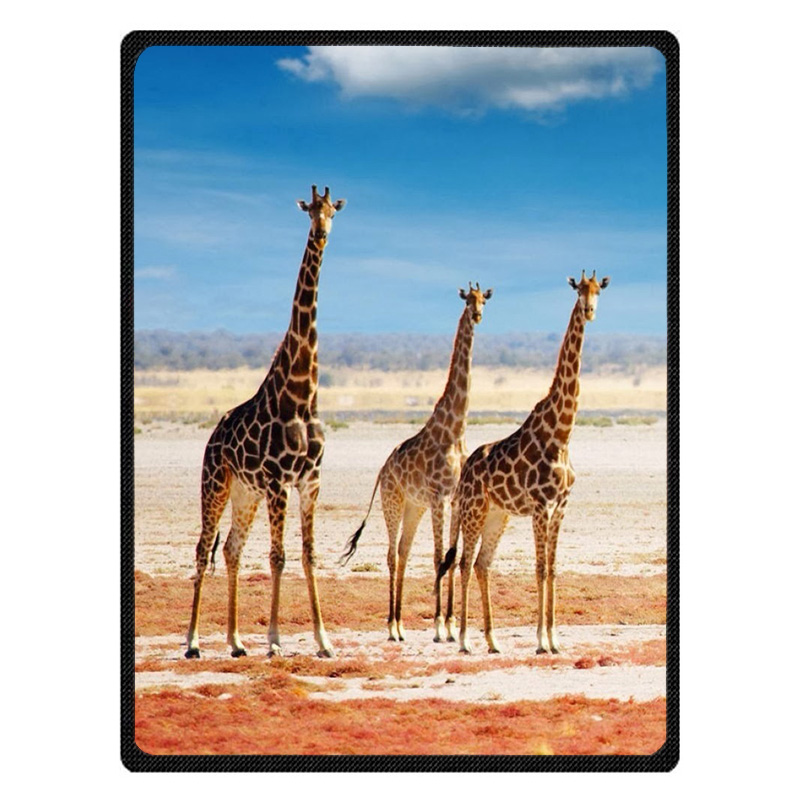 Comfortable giraffe Personalized Blanket Sofa Bed Throw Blanket Kid Adult Warm Blanket Children Quilt