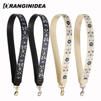 Cow Leather Shoulder Strap for Bags Embroidery Strap Belt Women Handbag Shoulder Crossbody Bag Straps Replacement Accessories