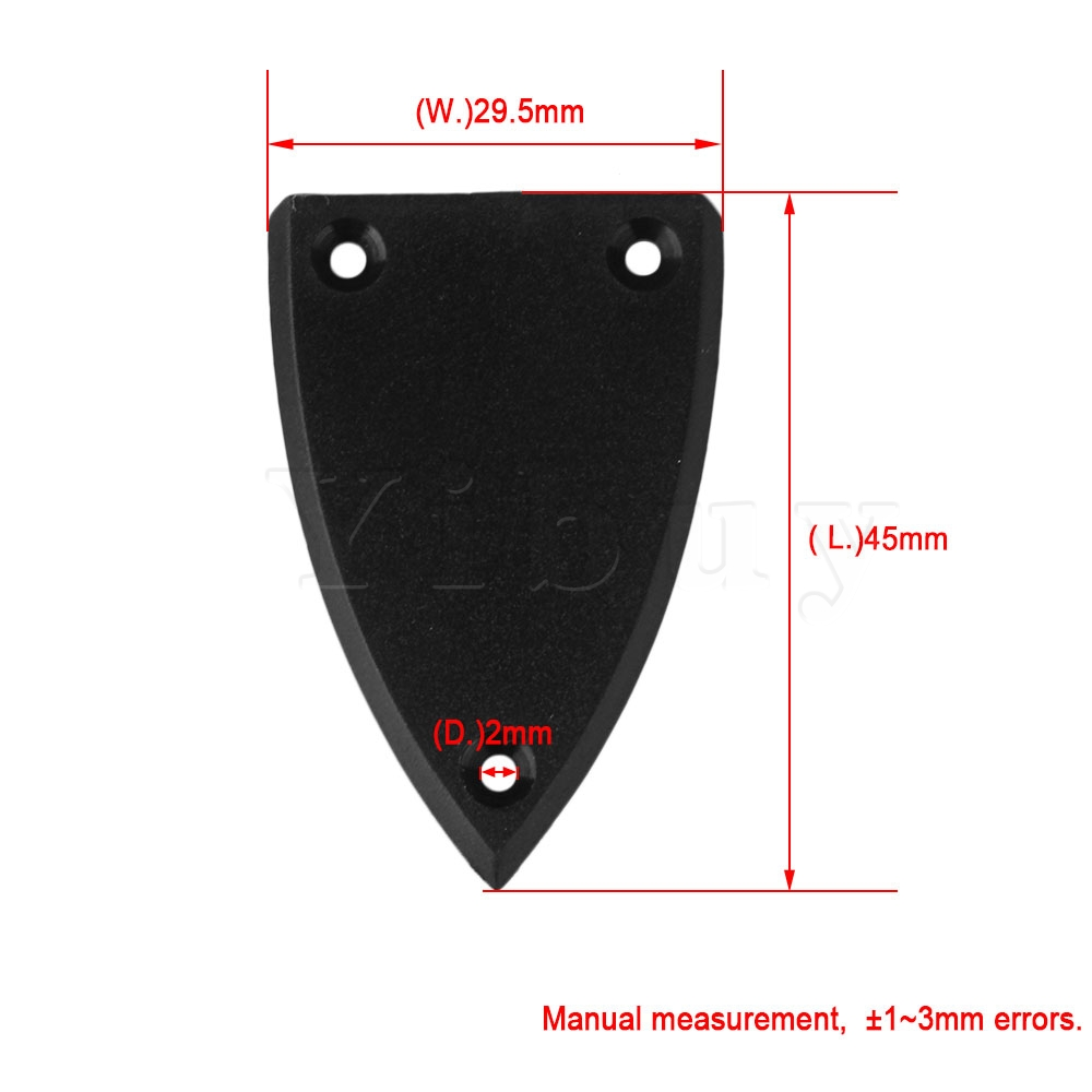 2 BLACK 1 layer Triangle TRUSS ROD COVER FOR GUITAR