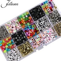 1000pcs 5mm Acrylic Letter Beads Round Square Alphabet Bead Mix Color For Jewelry Making DIY Bracelet Necklace Findings 2017