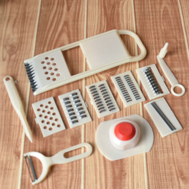 New 11pcs Fruit Vegetables Cutter Slicer Grater Ginger Ler Crusher Chopper Set For Easy Kitchen Tools
