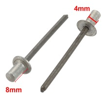 200pcs 4x8/10/13mm Blind Rivets Aluminum Countersunk Head Closed End Fastener Hardware For aircraft machinery Ect