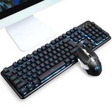 Wireless Keyboard and Mouse Set for PC Gamer 2.4 GH Wireless PC Gaming Keyboard and Mouse Combos for Computer Gamer Rechargeable intelligent wireless keyboard mouse combo set usb 2 4ghz gaming gamer game mice multimedia waterproof for computer pc desktop