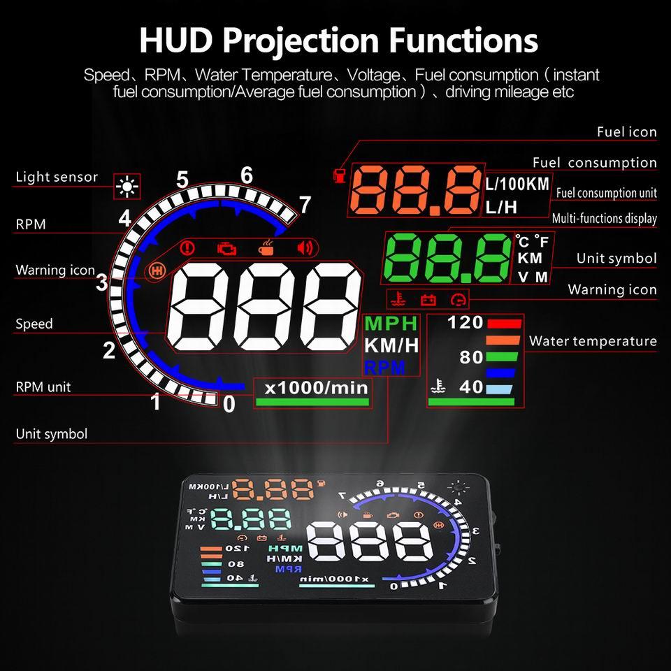 UTB8tgvDh  IXKJkSalUq6yBzVXar - Car Head Up Display Projector Shows Speed Warning Fuel Consumption