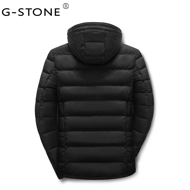G-STONE 2017 New Men's Winter Room Temperature Quilting Men's Pure Color
