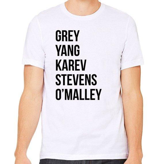 Shirts Greys Anatomy Shirt Tee Unisex Letter Print Clothing Tops