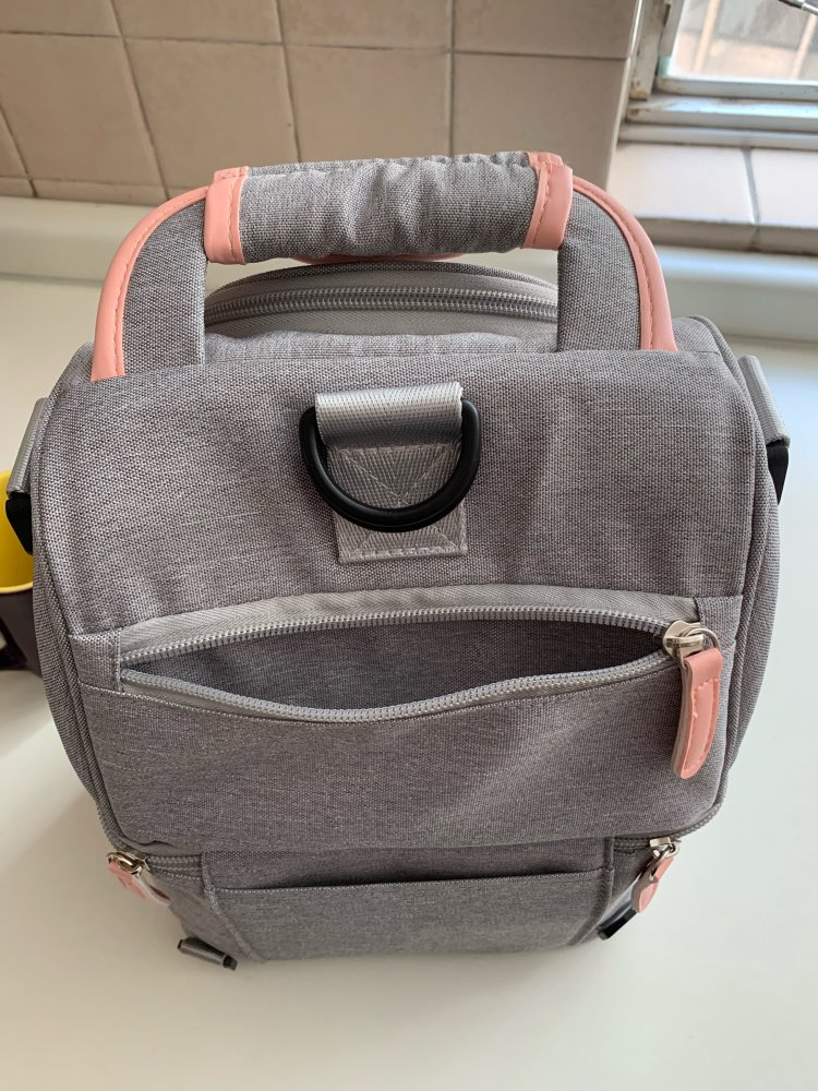 High Quality Double Layer Fashion Portable Lunch Bag Food Cooler Picnic Bags for Women Thermal Lunch Box Kids Milk Bag 3 Colors photo review