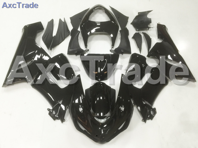 Motorcycle Fairings Kits For Kawasaki Ninja ZX6R 636 ZX-6R 2005 2006 05 06 ABS Plastic Injection Fairing Bodywork Kit Black A13 abs full fairing kit for kawasaki zx10r 2006 2007 red flames in black plastic fairings set ninja zx 10r 06 07 body kits zs26
