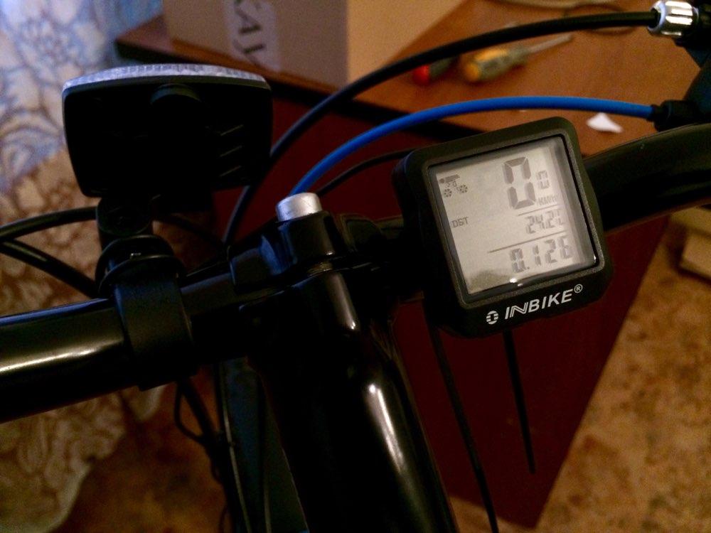 INBIKE Bike Computer Bicycle Speedometer Bicycle Computer Digital Backlight Waterproof Odometer Clock Stopwatch Bike Accessories