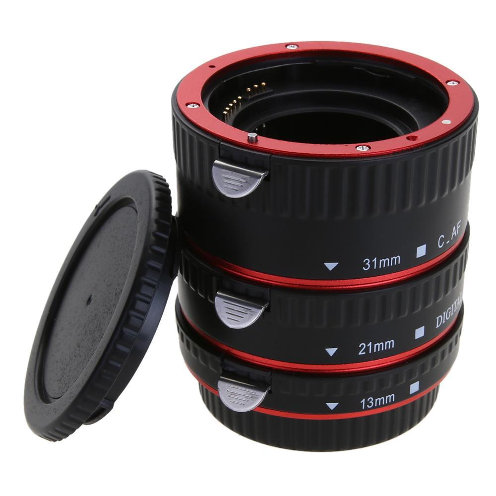 Para CANON Adaptador de Lente Da Câmera para Canon EOS EF-S 60D 7D 5D II 550D Adaptador de Lente Auto Foco AF Macro tubo de extensão/Anel de Montagem