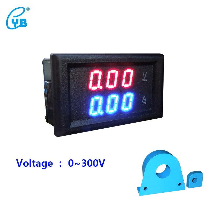 YB28VA CC 0-300V LED corriente de voltaje Dual metros pantalla Digital medidor de corriente de voltaje probador transformador de corriente CT Volt