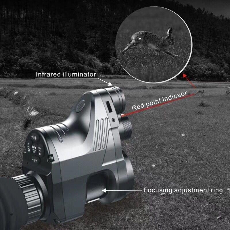 PARD Rifle scope Digital Night Vision Built-in IR-illuminator Red Laser Hunting Tactical Scope Cameras Video Night Rifle scope цена