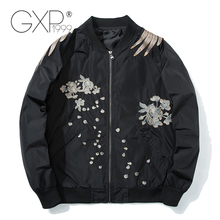 Spring Military Jackets Men with Phoenix on Back Petals 2018 Chinese Style Jackets Standard Baseball Cloth GXP1999 C-80
