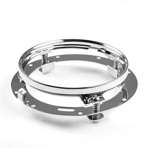 "Image 3 - 7 אינץ עגול LED פנס הרכבה סוגר טבעת עבור רכב ג יפ רנגלר JK לנד רובר defender עבור הארלי אופנוע 7 ""סוגר"