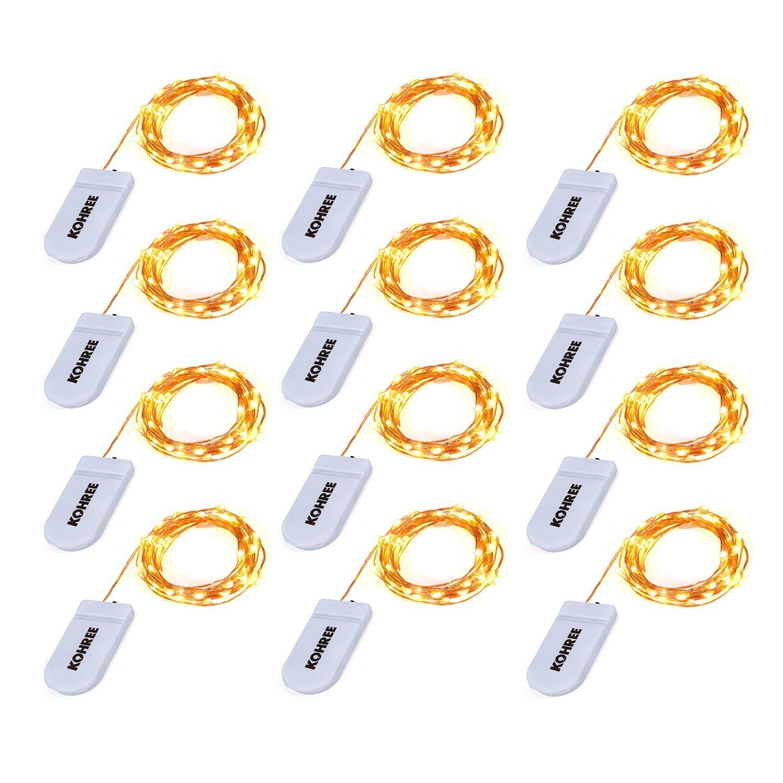 Christmas String Lights, Kohree 12 Pack Micro 30 LEDs Super Bright ...