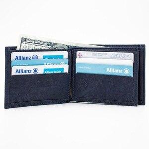 Cork wallet for men blue color