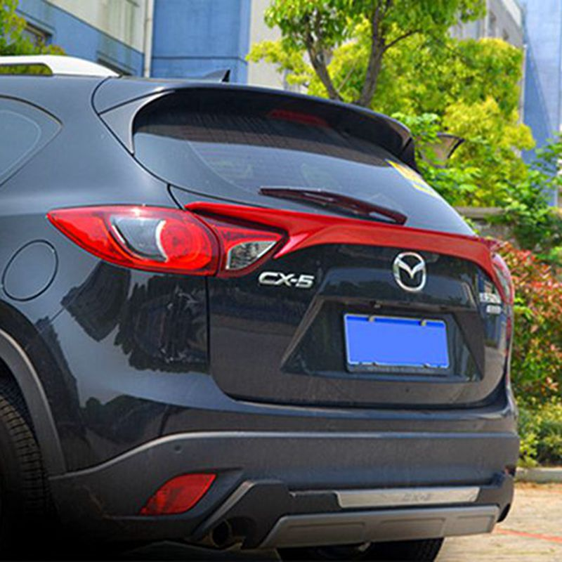 Car Accessories ABS Plastic Unpainted Primer Color Rear Spoiler Trunk Boot Lip Cover For Mazda CX-5 CX5 2012 2013 2014 2015 2016 for mazda cx 5 spoiler high quality abs material car rear wing primer color rear spoiler for mazda cx 5 spoiler 2013 2017