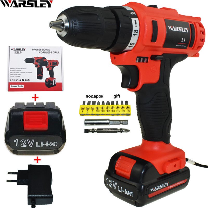12V Battery Drill Electric Screwdriver Power Tools Cordless Drill Electric Drill Electric Tools Mini Electric Drilling Eu Plug upt 32015d plug in electric screwdriver electric screwdriver electric tools electric group