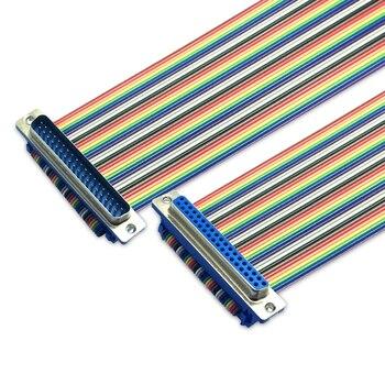Didc cabo de fita de pino db37 DIDC-37P, cabo macho para fêmea, dr37 com cabo de conector