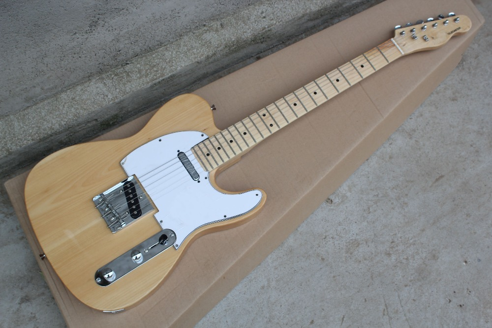 China Custom guitar factory Newest Custom Nature telecaster Electric Guitar in stock Free shipping! 10 25