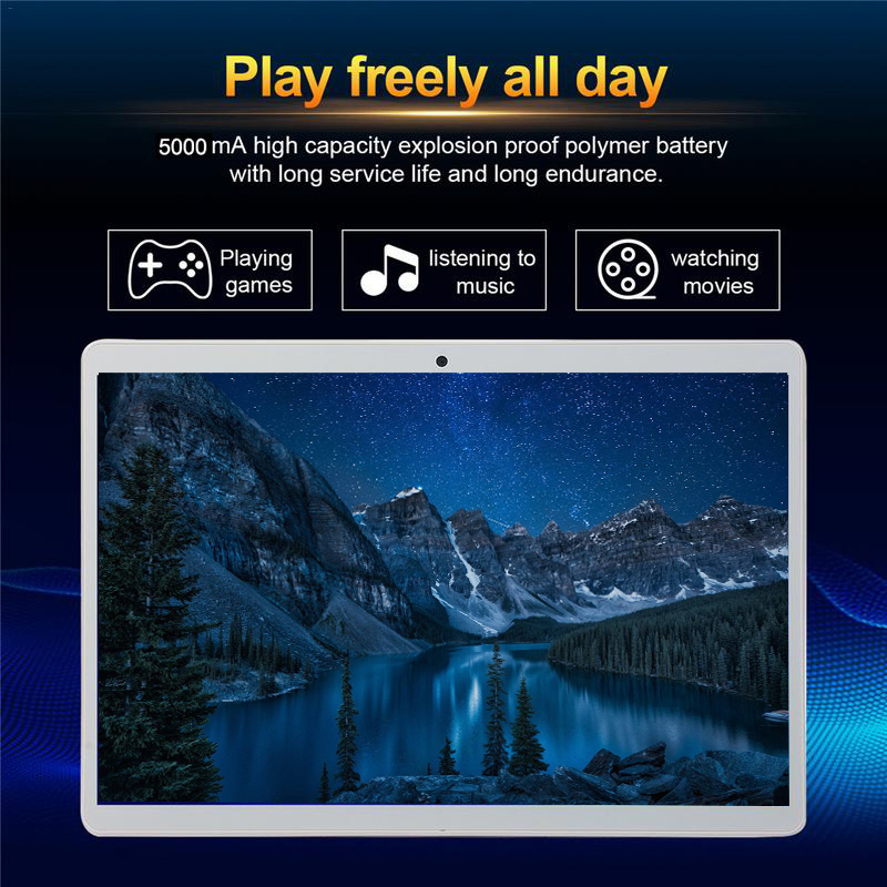 Pilulier en acier la tablette PC S109 10 Android 6.0 4 Core Ram 6 GB ROM 128 GB double SIM 10.1 pouces ordinateur portable Google WIFI GPS bluetooth 5MP
