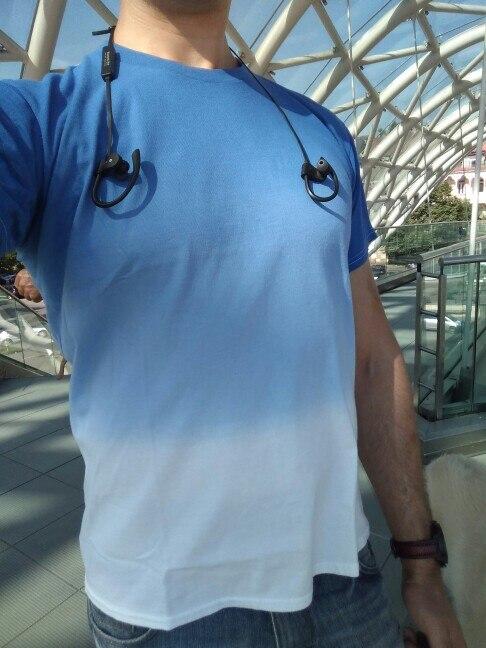 INFLATION Tee Men's Funny Hip Hop Dip Dye Cotton O Neck Short Sleeve Tee 039S16