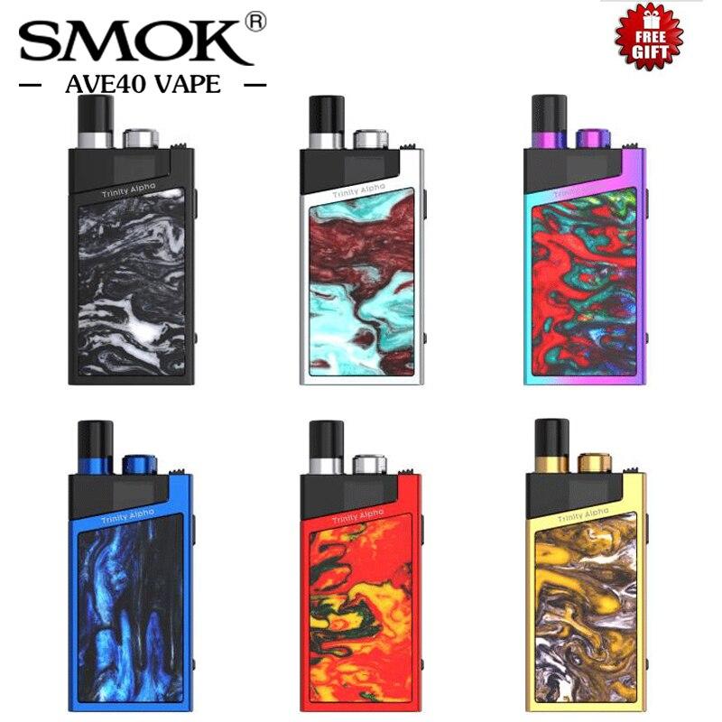En stock! Kit Original de cosse d'alpha de trinité de Smok capacité de cosse de la batterie 1000 mAh 2.8 ml avec trois Modes de puissance Cigarettes électroniques