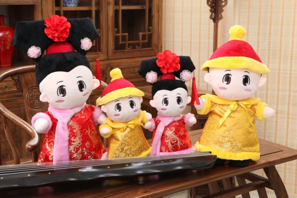 China style Wedding decorations doll gift for friend good luck gift stuffed high quality plush Festive Creative furniture toys 10 china silver feng shui buddhism good luck eight treasures sculpture statue
