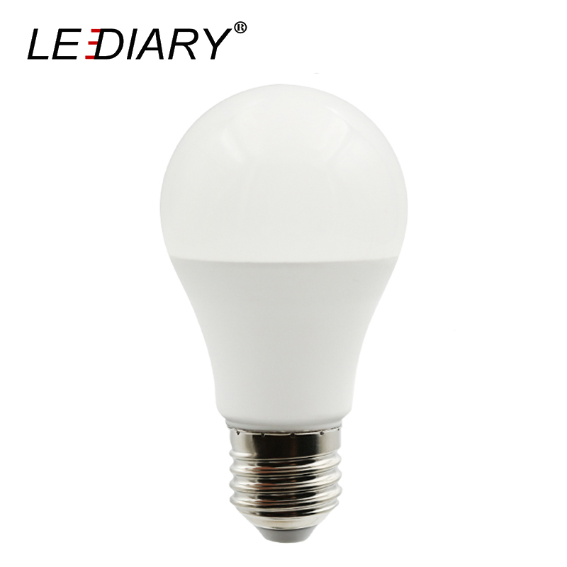 LEDIARY LED A60 E27 Bulbs PC Aluminum Living Room Super Bright Bulb 5W 7W 12W 18W 220V 3000K 4000K 6000K 5pcs/Lot
