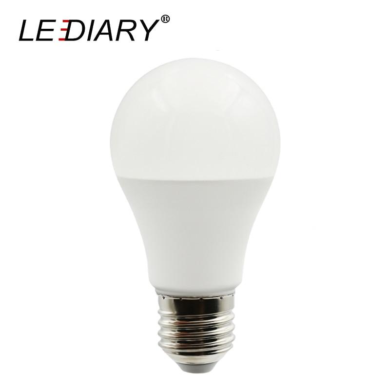 LEDIARY PC En Aluminium LED A60 E27 Ampoules Salon Utiliser Super Lumineux 12 w 220 v Nature Chaud Blanc Froid 3000 k 4000 k 6000 k 5 pcs/lot