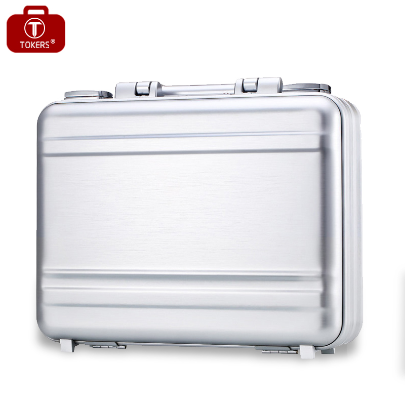 Aluminum briefcase laptop for man business attache case lawyer toolbox 15inch