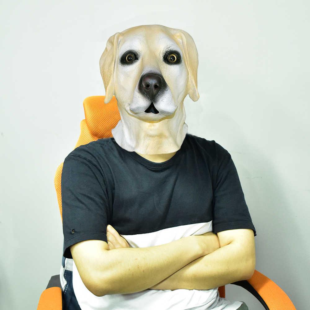 Маска собаки Лабрадор полная голова ручной работы латексная маска животного для