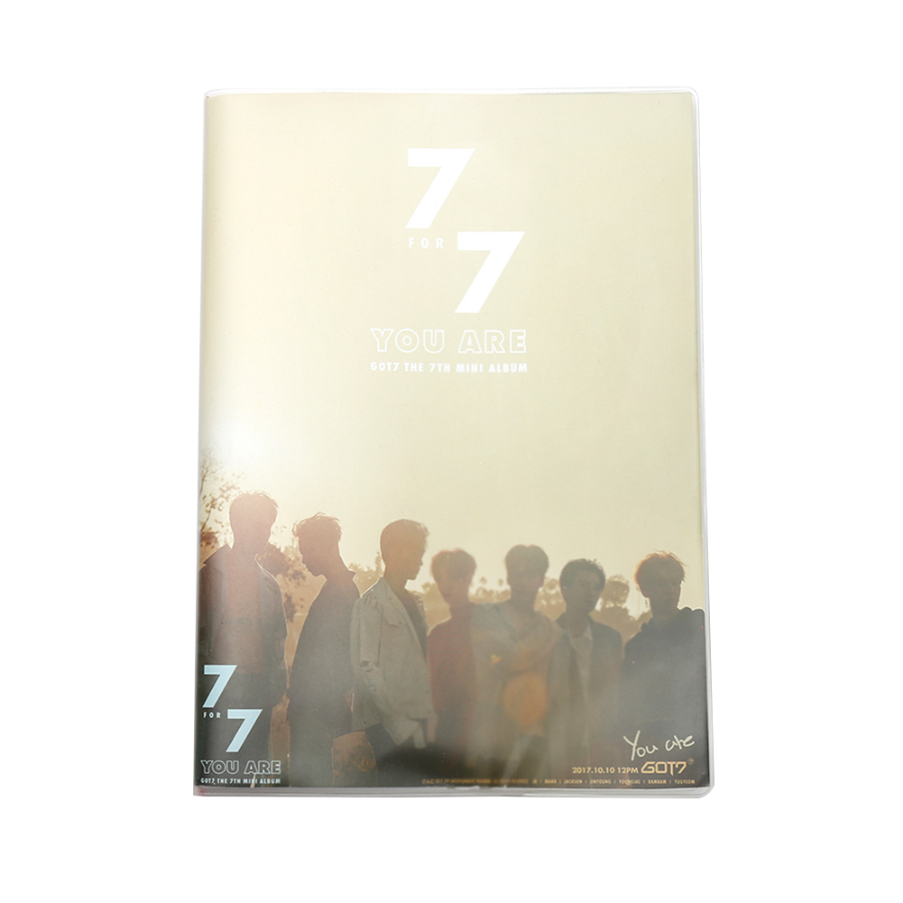 2018 NEW GOT7 Team Super Star Print Notebook Daily Writing Note Pad Creative Stationery School Supplies for Student got7 got 7 youngjae kim yugyeom autographed signed photo flight log arrival 6 inches new korean freeshipping 03 2017