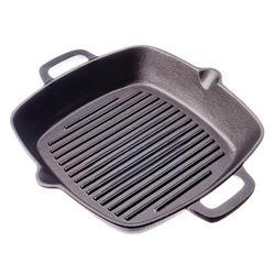 GRILL GUSSEISEN Pfanne Non-stick bratpfanne rillen grill gusseisen induktion herd backofen 26x26x4,5 sm 808-004