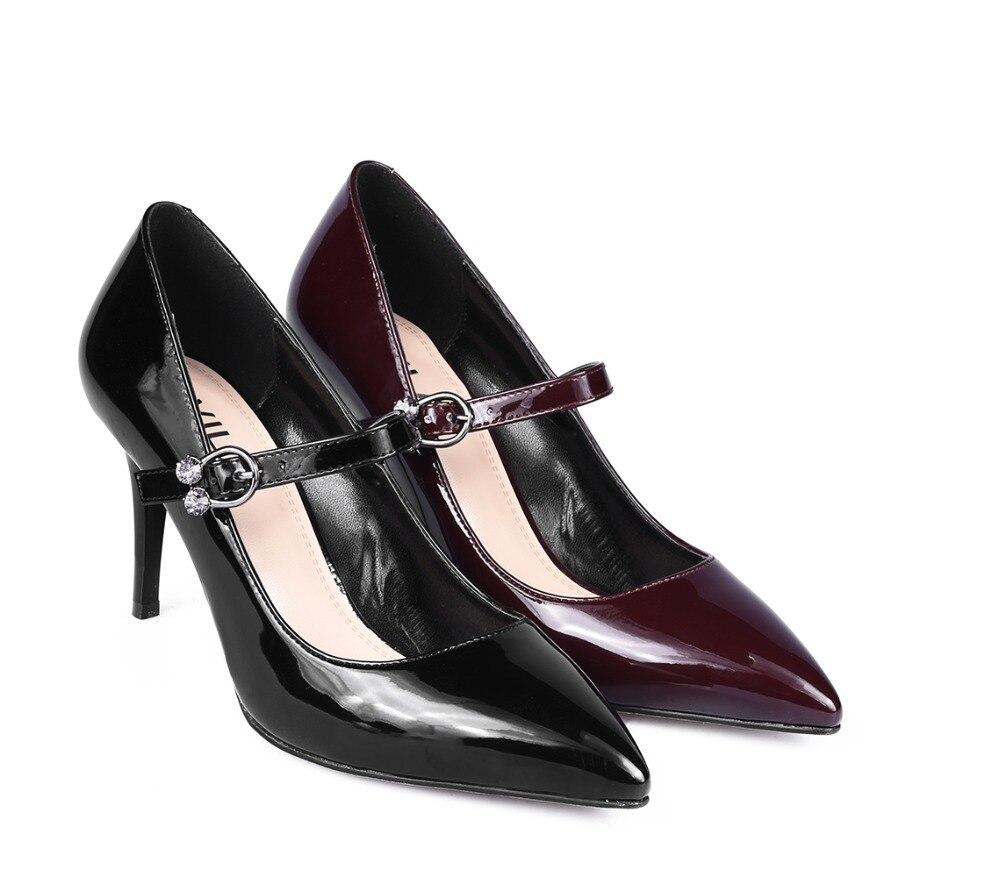 Pattini di vestito degli alti talloni delle donne Pompe tacchi corte AVILA RC623_AG010006-18-2-1 Scarpe da Donna in pelle Artificiale per la femmina