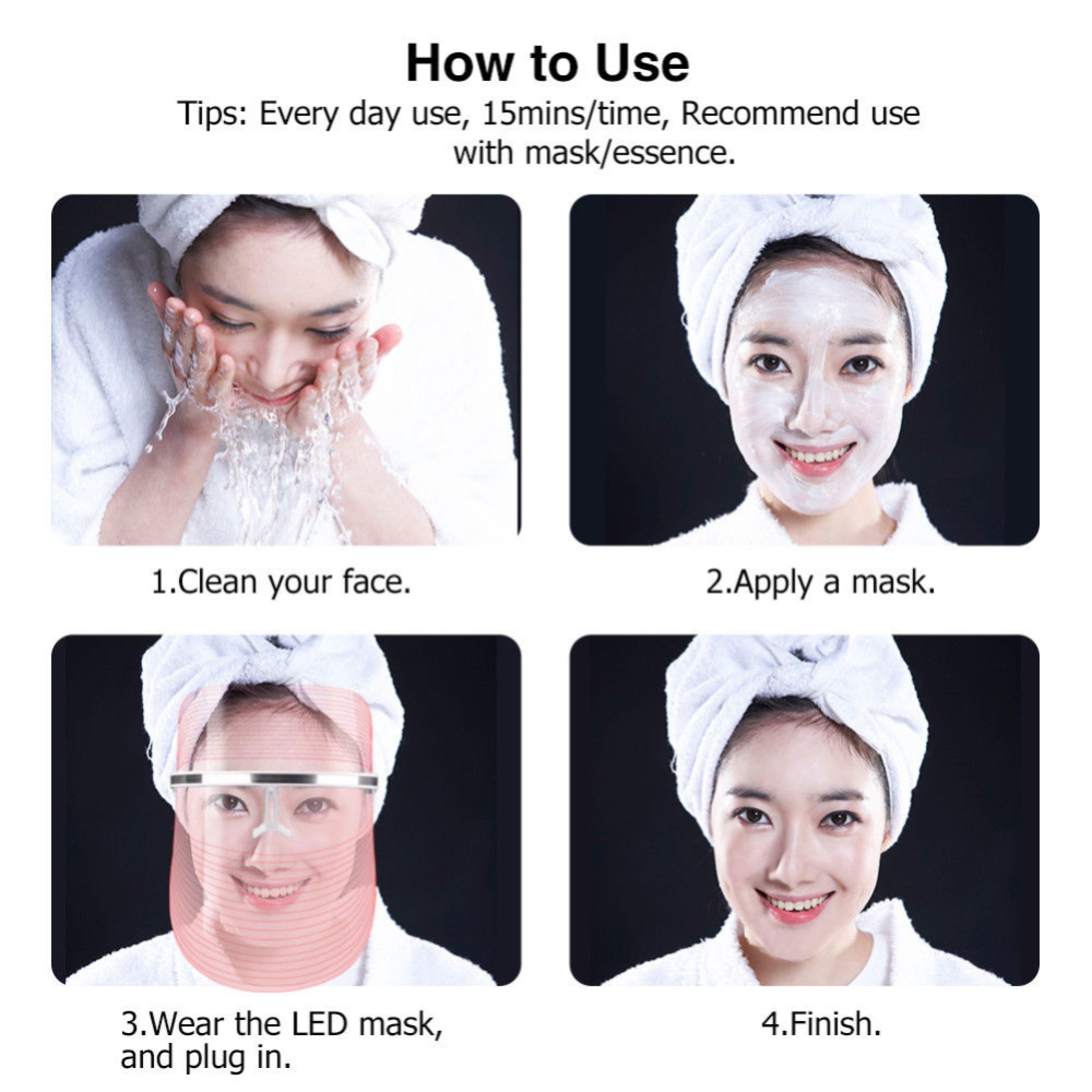 how to use a led light therapy mask machine