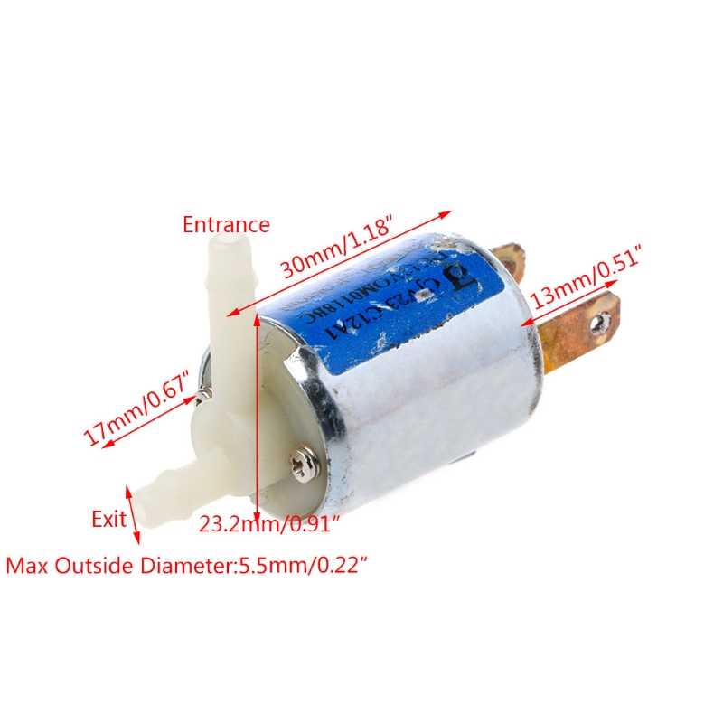 2018 New Arrival DC 12V Normally Closed Type Electronic Control Solenoid Discouraged Air Valve