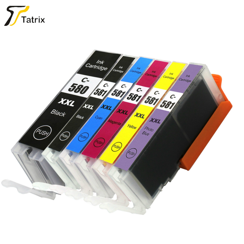 For Canon 6 PK PGI-580 CLI-581 Ink Cartridge for Canon PIXMA TR7550/TR8550/TS6150/TS6151/TS8150/TS8151/TS8152/TS9150/TS9155 5pk pgi580 cli581 compatible ink cartridge for canon 580 581 suit for tr7550 tr8550 ts6150 ts6151 ts8150 ts9155 printer