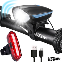 Speaker Bicycle Light Front And Back Set With Horn Waterproof USB Charge Bike Headlight Super Bright