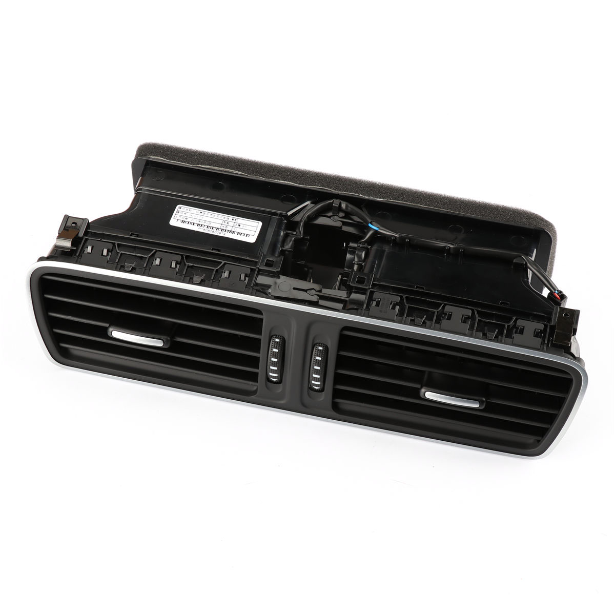 OEM Black Chrome Front Dash Central Air Vent For Volkswagen PASSAT B6 B7 CC 3AD 819 728 3pcs oem black piano paint chrome car center console air condition vents for passat b6 b7 cc r36 3ad 819 701 a 3ad 819 702 a