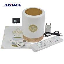 AIYIMA اللاسلكية التحكم عن بعد مكبر الصوت المحمول الذي يعمل بالبلوتوث SQ112 القرآن مكبرات الصوت MP3 FM راديو اللمس LED مع 25 لغة