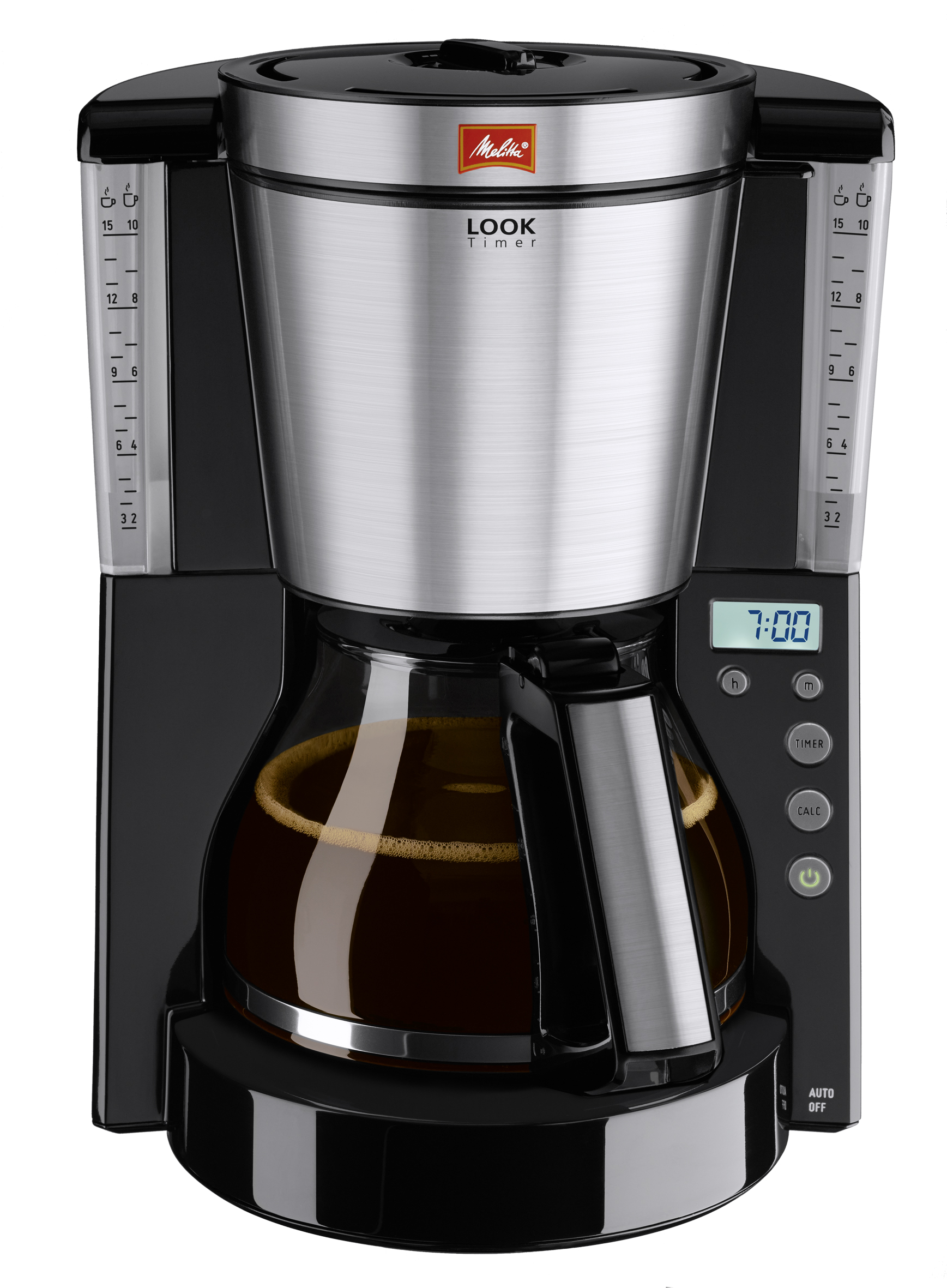 цены на Drip coffee maker Melitta Look IV Timer, Black в интернет-магазинах