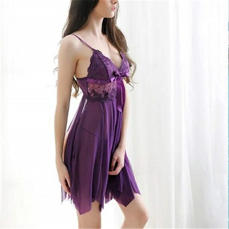 <font><b>Baby</b></font> <font><b>Doll</b></font> <font><b>Sexy</b></font> <font><b>Lingerie</b></font> Plus Size Transparent Lace Sleepwear Porn Dress Deep V Neck Hot Erotic Babydoll <font><b>Sexy</b></font> Underwear Costumes image