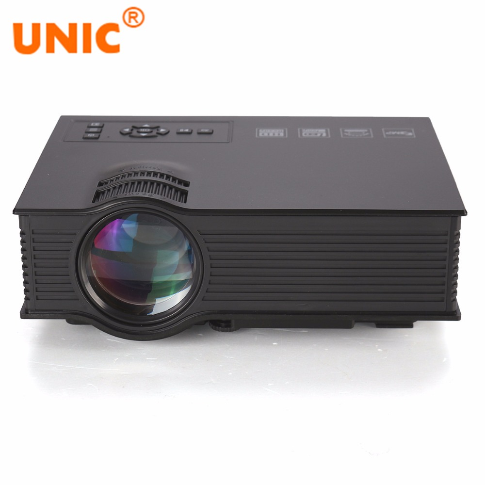 все цены на UNIC UC40+ Mini Portable Projector HDMI Home Theater Beamer Multimedia Proyector USB/AV/SD/HDMI/IR Video Projector онлайн