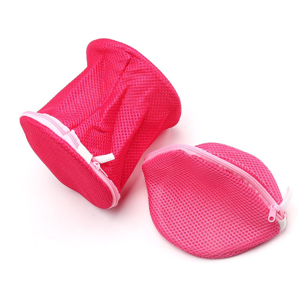 New Double Layer Zippered Mesh Laundry Bag Clothes Protector Underwear Care Washing Bra Bags